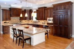 Custom-Kitchen-Cabinets-Cabinet-With-Combination-Brown-And-Granite