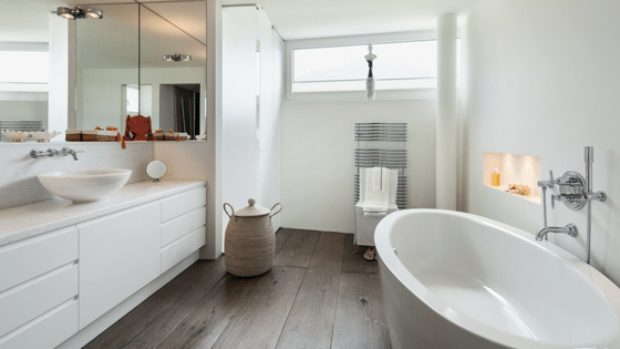 Wood Floors & Bathrooms: They Don't Mix